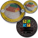 25 Hides Geo-Achievement Geocoin And Pin Set